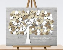 3D-Effekt Hochzeitsbaum, Wedding tree, Gästebuch