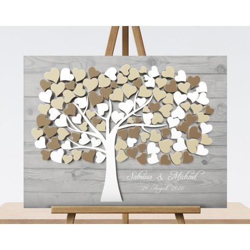 3D effect Wooden Design - Gray