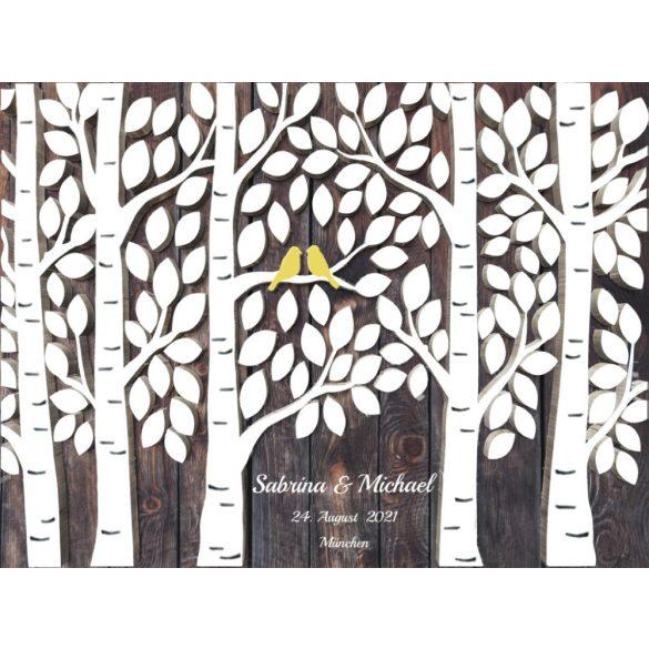 Hochzeitsbaum Braun Wald Design