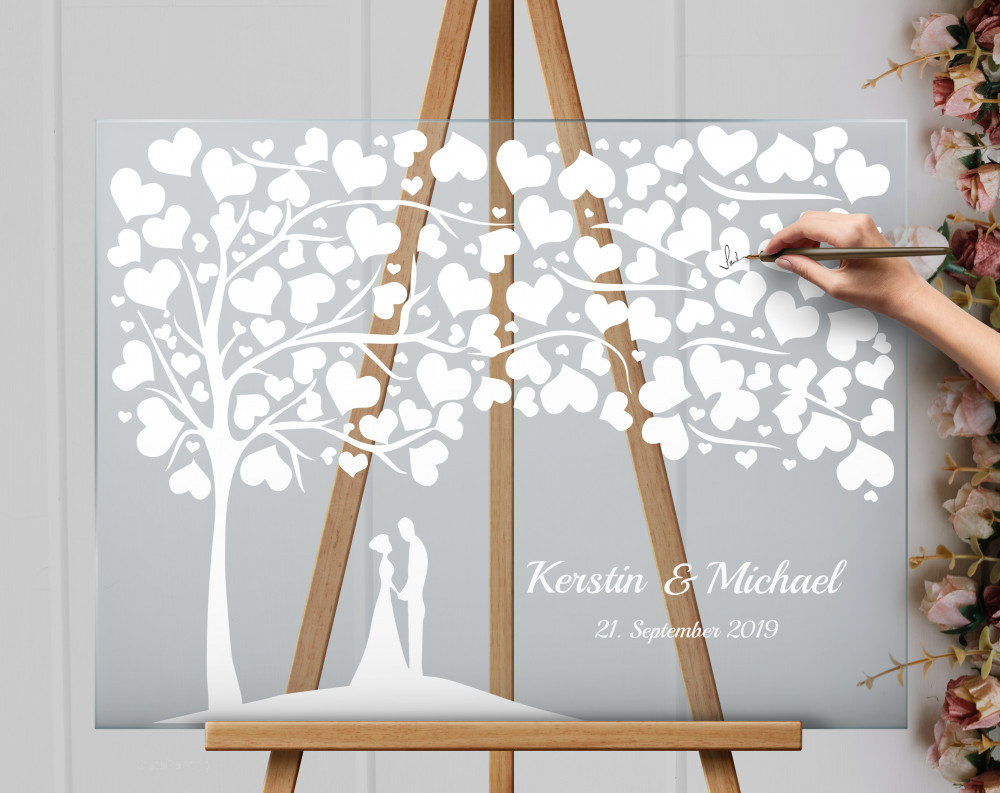 Acrylic Glass Sign Wedding Tree Wedding Sign