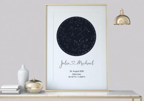 Benutzerdefinierte Sternenkarte, Nachthimmel Druck, personalisierte Sternenkarte Poster