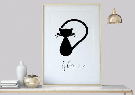 Katze Linie handzeichnung, Wanddekoration abstrakt