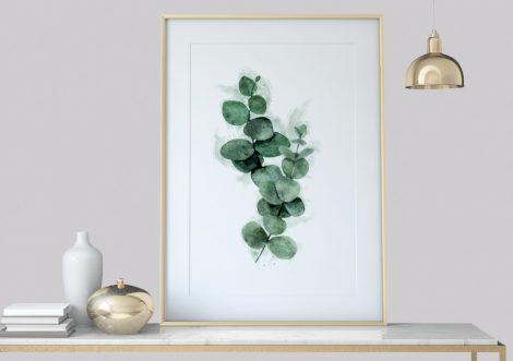 Eukalyptus Eucalyptus Pflanzendruck  Text Poster, Sprüche Zitate