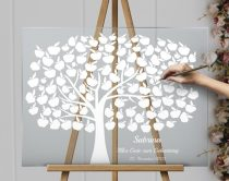 Acrylic glass sign, wedding tree, guest book