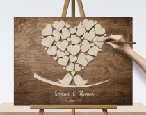 Wedding sign, canvas print with 3D Wooden effect