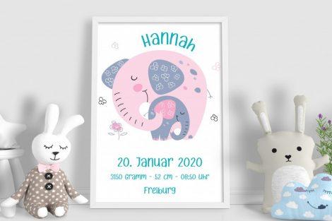Geburtsanzeigen Kinderposter, Kinderbild