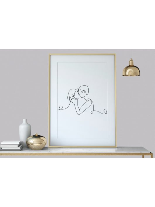 Linie ART, one line handzeichnung, Wanddekoration