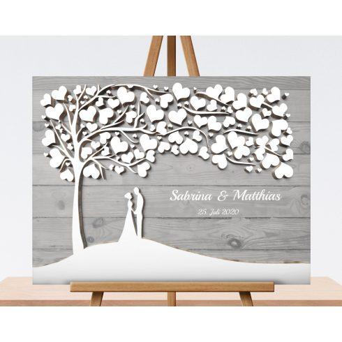 Hochzeitsbaum, Wedding tree  , Gästebaum - Brautpaar