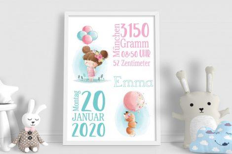 Geburtsanzeigen Kinderposter, Kinderbild Geburtsposter