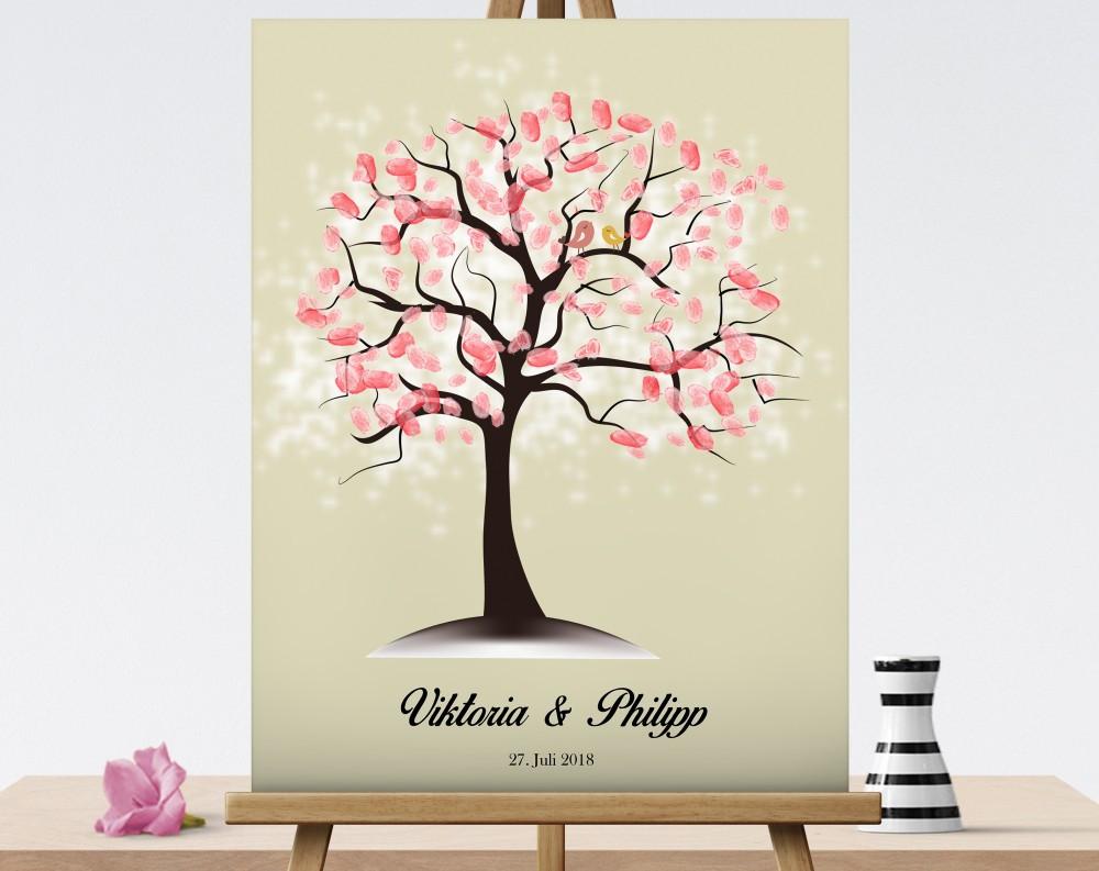 Hochzeitsgastebuch Hochzeitsbaum Wedding Tree Fingerabdruckbaum