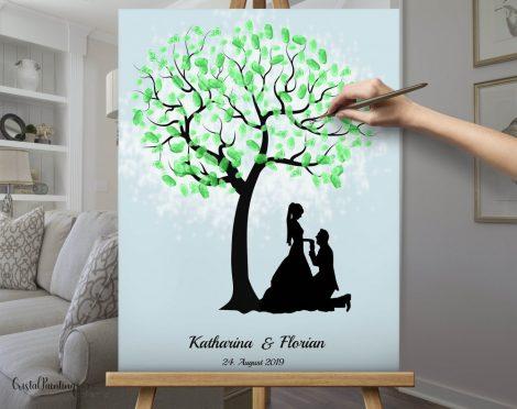 Fingerprint tree, fingerprint wedding tree, thumbnail tree